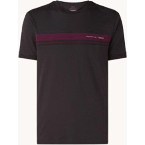 T-shirt avec détail rayé et bordure logo - Hugo Boss - Modalova