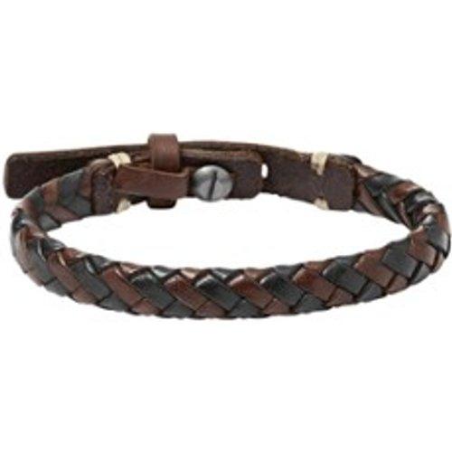 Bracelet en cuir tressé - Fossil - Modalova