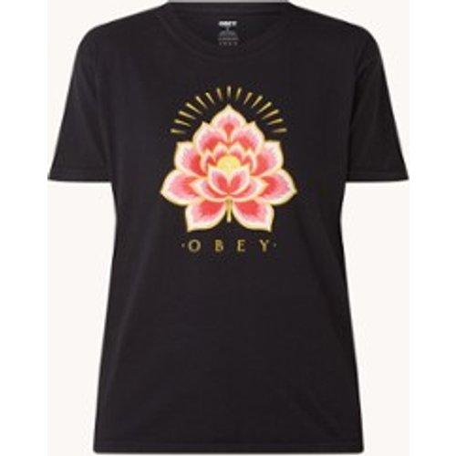 T-shirt Radiant Lotus avec imprimé logo - Obey - Modalova