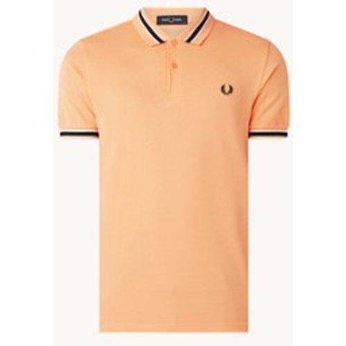 Polo coupe régulière en coton piqué avec bordure logo - Fred Perry - Modalova