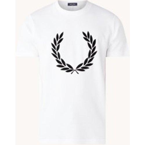 T-shirt avec imprimé logo floqué - Fred Perry - Modalova