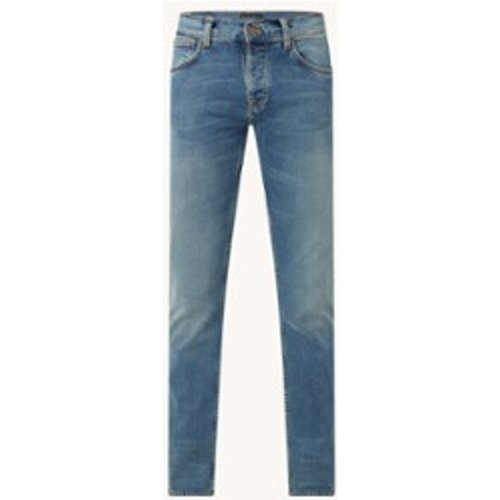 Jean slim avec délavage moyen - Nudie Jeans - Modalova