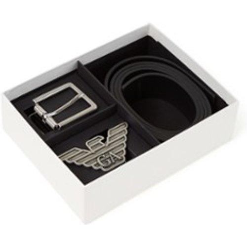 Ceinture en cuir dans une boîte cadeau - Emporio Armani - Modalova