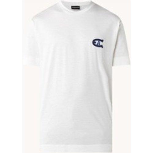 T-shirt en lyocell mélangé avec imprimé - Emporio Armani - Modalova