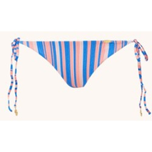 Slip de bikini tanga Play Time avec imprimé à rayures et lurex - Luli Fama - Modalova