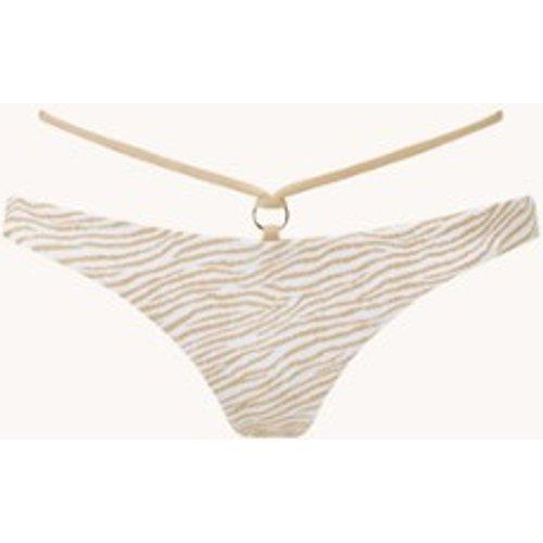 Culotte de bikini tanga Goddess Allure à imprimé tigre et lurex - Luli Fama - Modalova