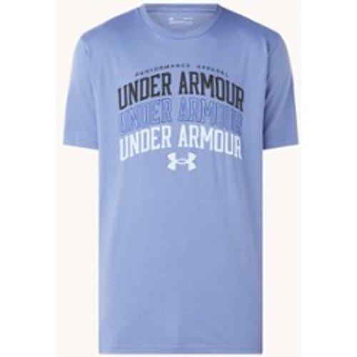 T-shirt d'entraînement avec logo imprimé et HeatGear - Under Armour - Modalova