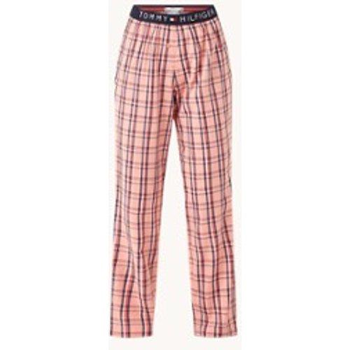 Pantalon de pyjama à carreaux et logo - Tommy Hilfiger - Modalova