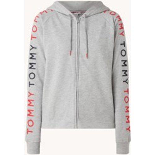 Veste molletonnée avec capuche et bordure logo - Tommy Hilfiger - Modalova