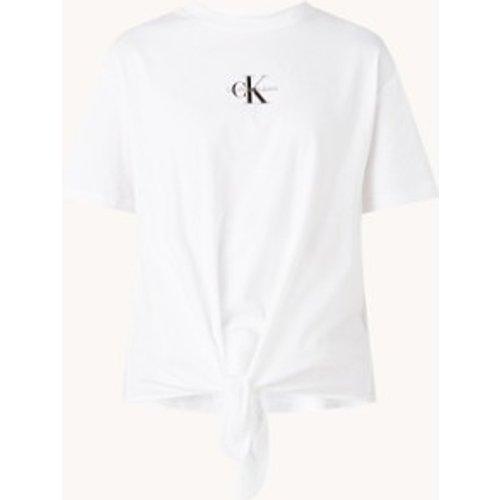 T-shirt avec logo imprimé et détail en maille - Calvin Klein - Modalova