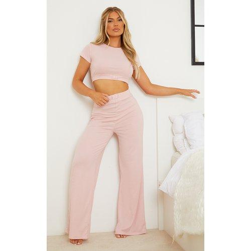 Pantalon de pyjama large pâle côtelé à badge Dreams Mix & Match - PrettyLittleThing - Modalova