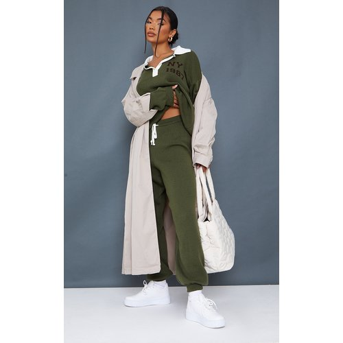 Jogging en maille tricot à cordons ajustables - PrettyLittleThing - Modalova