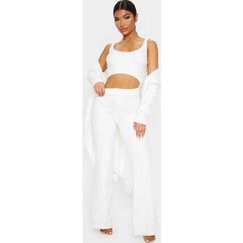Pantalon taille haute en maille chenille  - PrettyLittleThing - Modalova