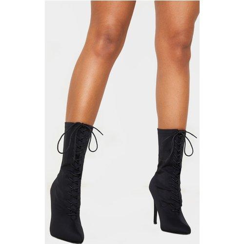 Bottes-chaussettes à lacets - PrettyLittleThing - Modalova