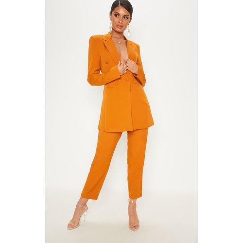 Pantalon de tailleur moutarde court - PrettyLittleThing - Modalova