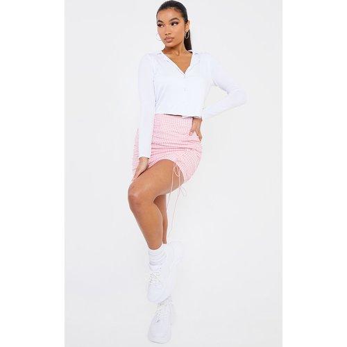 Mini-jupe imprimé vichy froncée - PrettyLittleThing - Modalova