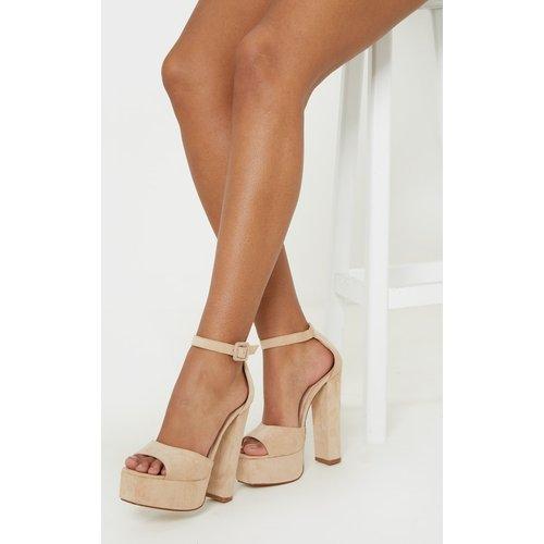 Sandales nude à haute plateforme - PrettyLittleThing - Modalova