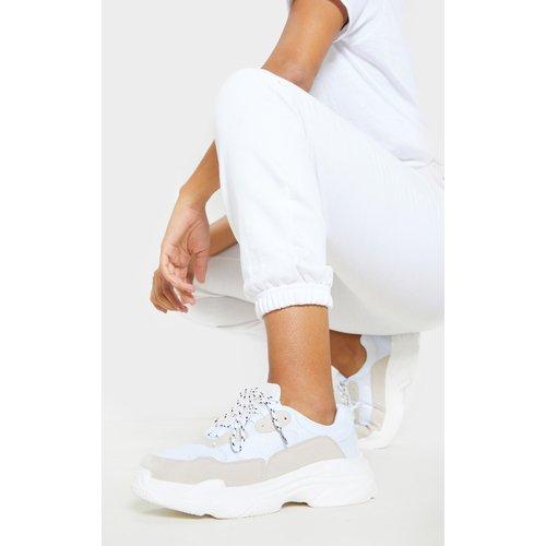 Baskets blanches à semelle épaisse - PrettyLittleThing - Modalova