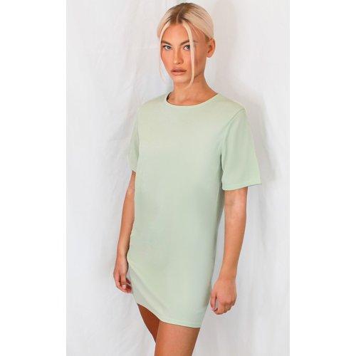 Robe t-shirt manches courtes côtelée  - PrettyLittleThing - Modalova