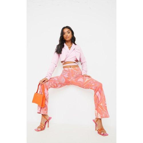 Petite - Pantalon flare en jersey imprimé fleuri - PrettyLittleThing - Modalova