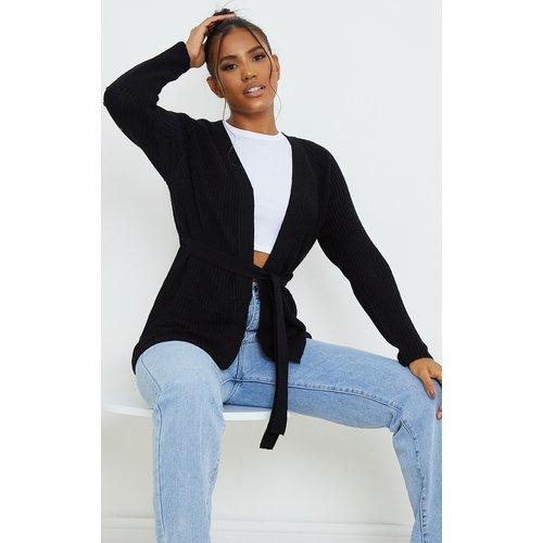Gilet long en maille tricot noué sur la taille - PrettyLittleThing - Modalova