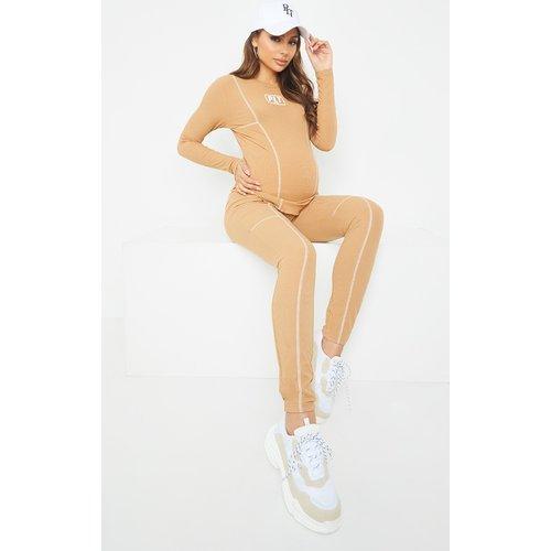 Maternité - Legging côtelé - PrettyLittleThing - Modalova