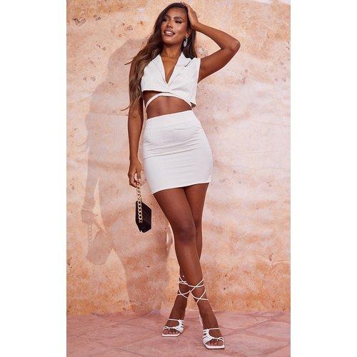 Mini-jupe taille haute en maille tissée - PrettyLittleThing - Modalova