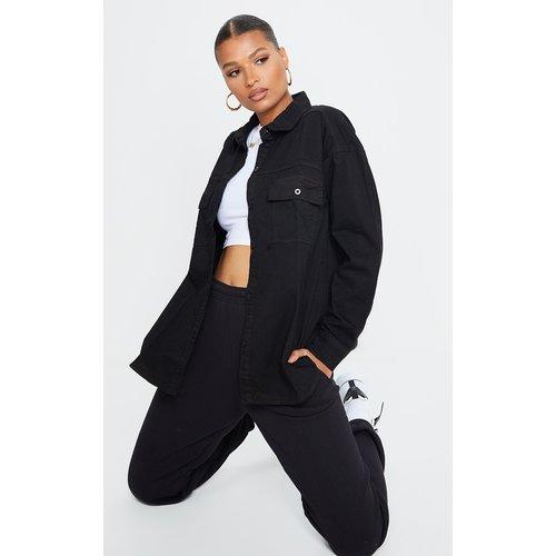 Chemise en jean noir, Noir - PrettyLittleThing - Modalova