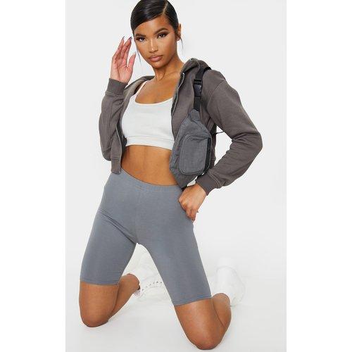 Short legging en coton stretch gris ardoise - PrettyLittleThing - Modalova