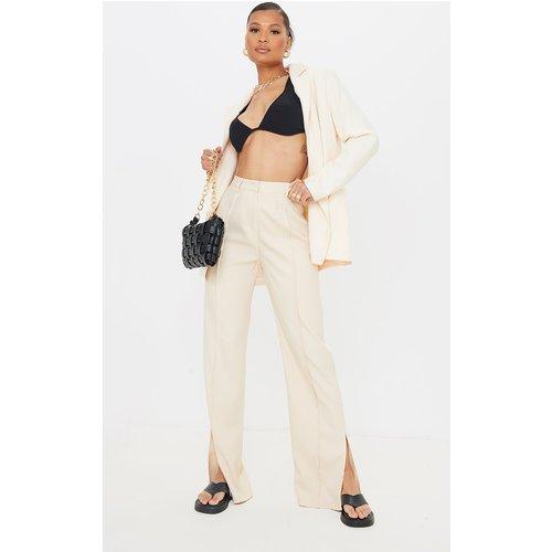 Pantalon à pinces en maille à détail fendu - PrettyLittleThing - Modalova