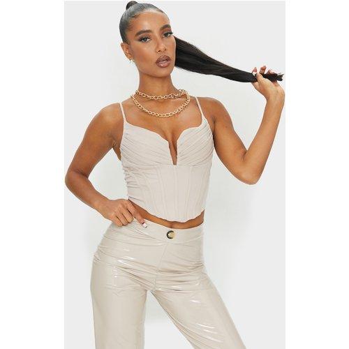 Crop top à corset détail bustier - PrettyLittleThing - Modalova