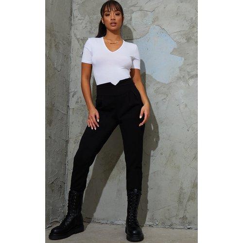 Petite - Pantalon à taille haute froncée - PrettyLittleThing - Modalova