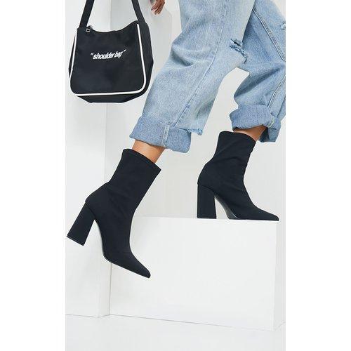 Bottes-chaussettes pointues à talons carrés pointure large - PrettyLittleThing - Modalova