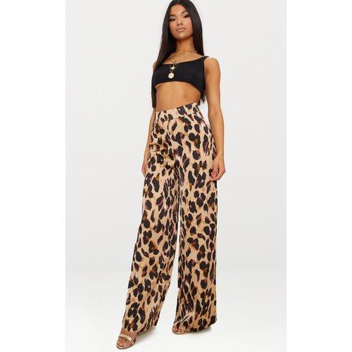 Pantalon ample satiné à imprimé  - PrettyLittleThing - Modalova