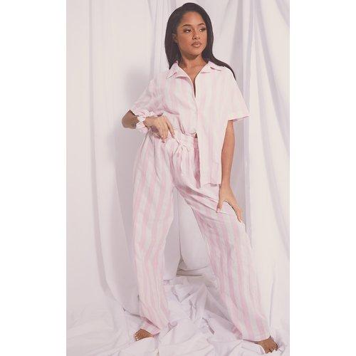 Pantalon de pyjama ample rayé en coton Mix & Match - PrettyLittleThing - Modalova