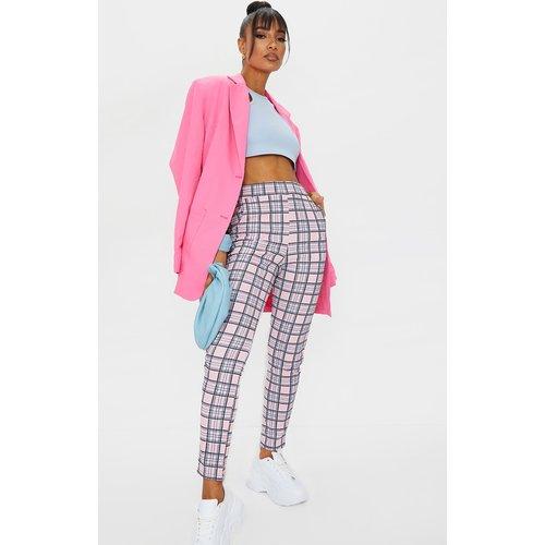 Pantalon skinny à imprimé carreaux - PrettyLittleThing - Modalova