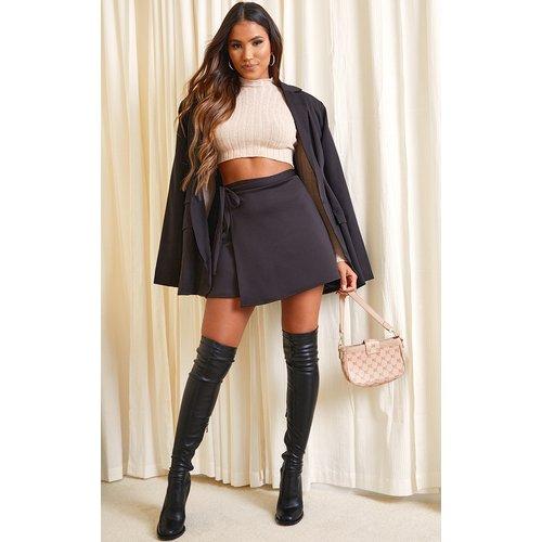 Mini-jupe portefeuille en néoprène - PrettyLittleThing - Modalova