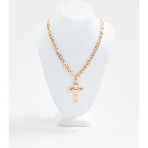 Collier à petite croix ornée - PrettyLittleThing - Modalova