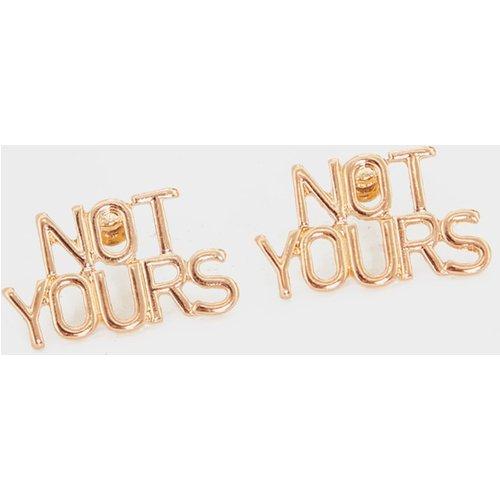 Boucles d'oreilles Not Yours - PrettyLittleThing - Modalova