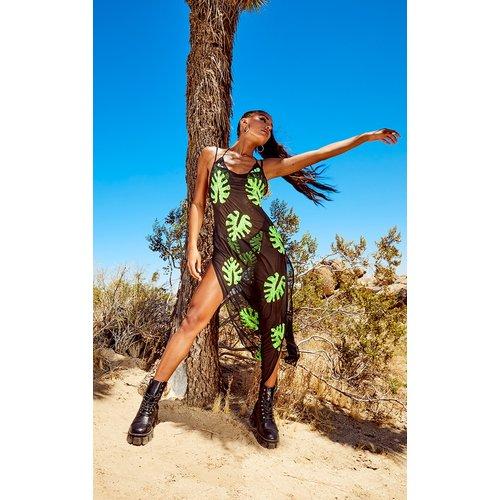 Robe de plage à sequins et palmiers - PrettyLittleThing - Modalova
