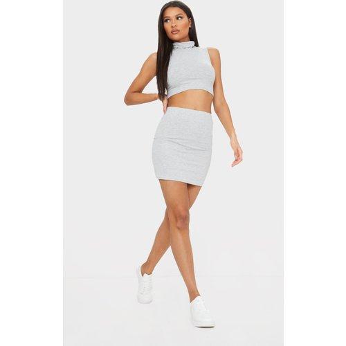 PLT Essentiel - Mini-jupe chiné basique en jersey - PrettyLittleThing - Modalova