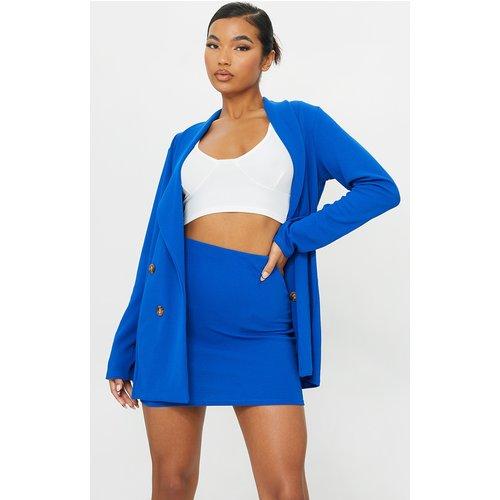 Mini-jupe bleu style tailleur - PrettyLittleThing - Modalova