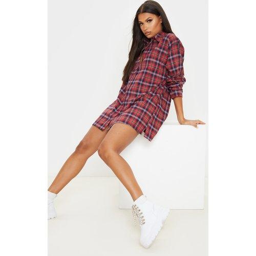 Robe-chemise oversize à carreaux  - PrettyLittleThing - Modalova