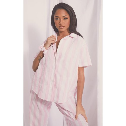 Chemise de pyjama rayée à manches courtes Mix & Match - PrettyLittleThing - Modalova