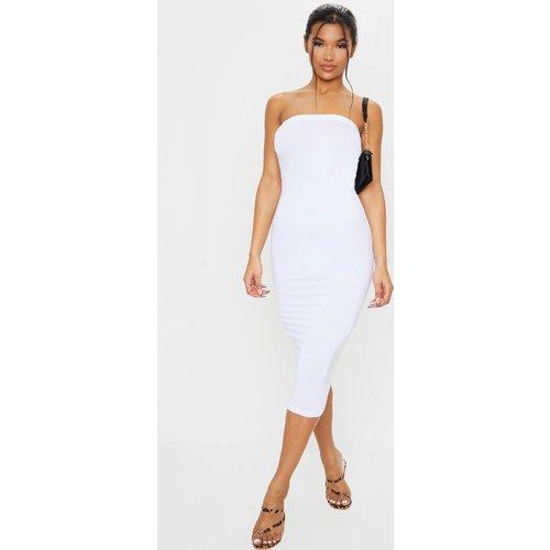 Longue robe bandeau blanche basique - PrettyLittleThing - Modalova