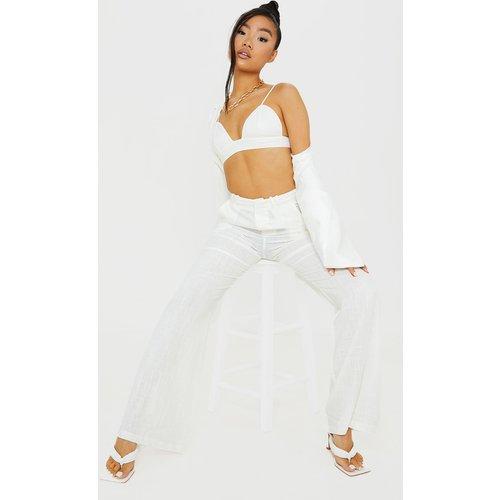 Petite - Pantalon ample à taille haute - PrettyLittleThing - Modalova
