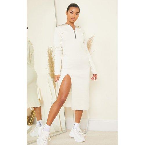 Robe mi-longue fendue en maille tricot  - PrettyLittleThing - Modalova