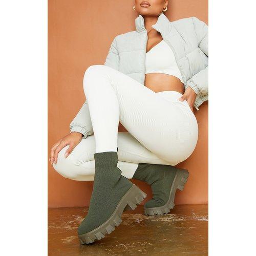 Bottes chaussettes en maille à semelle chunky - PrettyLittleThing - Modalova