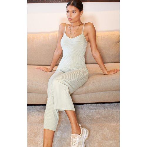 Combinaison jupe-culotte côtelée pâle - PrettyLittleThing - Modalova