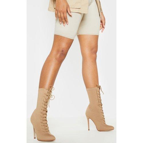 Mazy bottes-chaussettes chair à lacets - PrettyLittleThing - Modalova